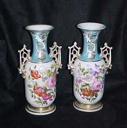 Old Paris Porcelain Vases: Rococo Style