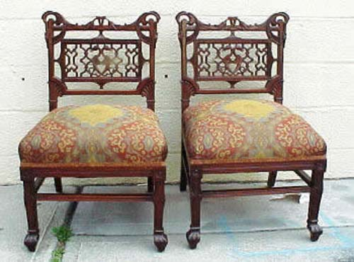 Pr  Victorian Aesthetic Chairs: Herter. SOLD