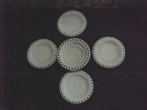 English Parian Dessert Set  SOLD