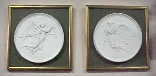 Pair of Parian Plaques Of Morning & Night