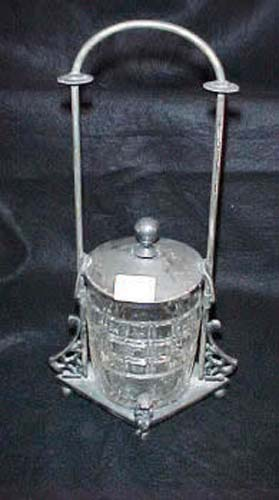 Victorian Silverplate Meriden Pickle Castor