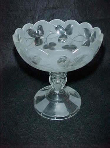 Victorian Glass Compote, Possible Pittsburgh
