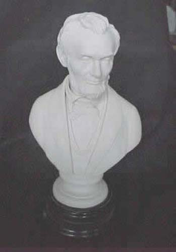 English Parian Bust Of Abe Lincoln SOLD