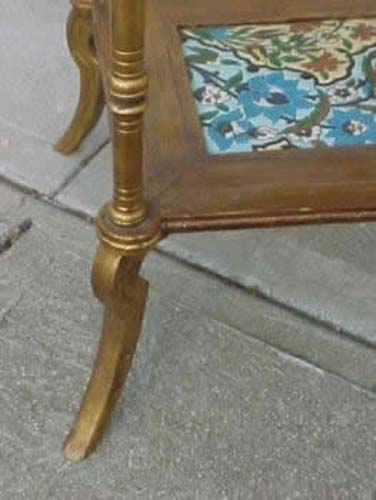 Victorian Aesthetic Movement Longwy Table. SOLD