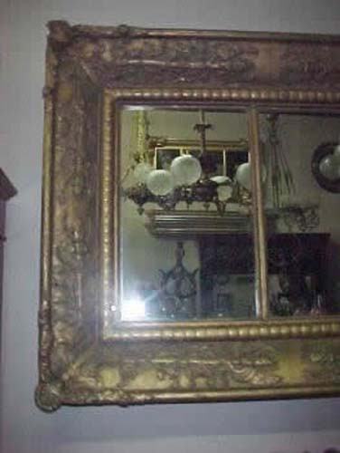 Classical Gold Leaf Overmantel Mirror Sold