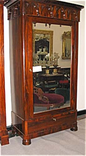Am. Gothic Revival Armoire