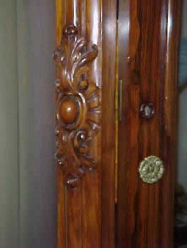 Labeled Meeks Rococo Revival Rosewood Armoire