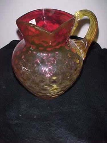 Amberina  Glass Pitcher