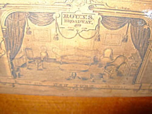 Table, Roux Elizabethan Revival w label