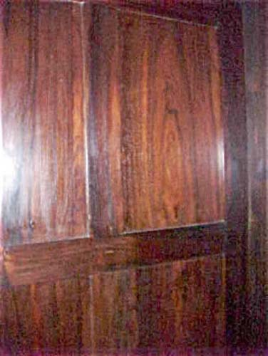 Labeled Meeks Rosewood Rococo Armoire