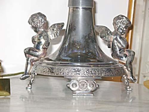 Silverplate Cherub Brides Basket
