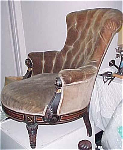 "Victorian Ebonized  ""Herter""  Armchair"