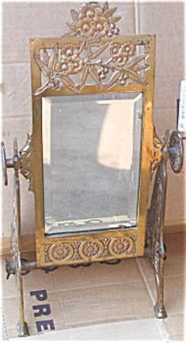 Aesthetic Victorian Brass Mirror SOLD