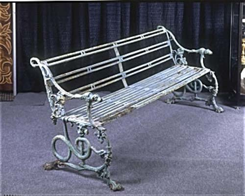 Antique Victorian Cast Iron Bench By Coalbrookdale
