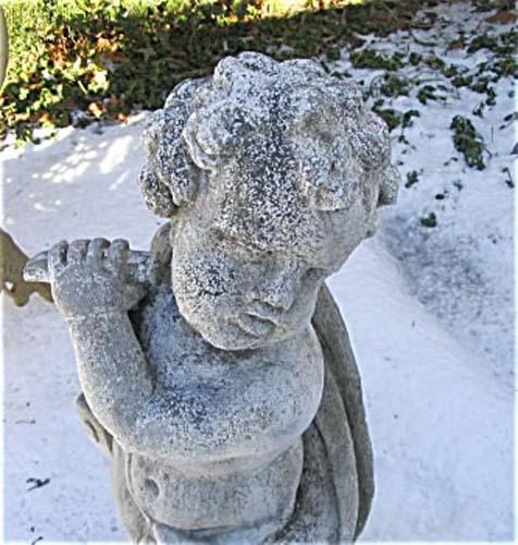 Statue Cast Stone  Cherub SOLD