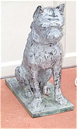 Dog Statue Zinc & Cast Iron Fiske or Mott