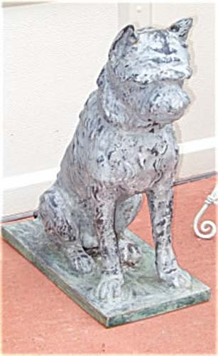 Dog Statue Zinc & Cast Iron Fiske or Mott