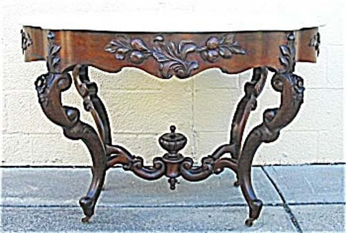 Table: Belter Rosewood Marble Top. SOLD