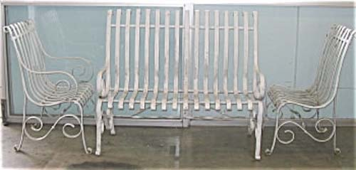 Garden Set -3Pc Wrought Iron Set
