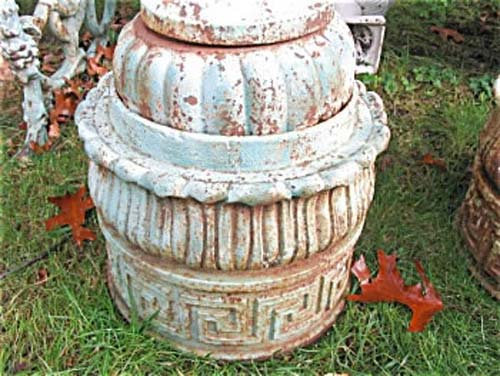 Garden: Pair of Cast Iron Finials    SOLD