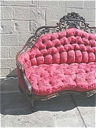 Sofa:Belter Rococo Revival  Loveseat