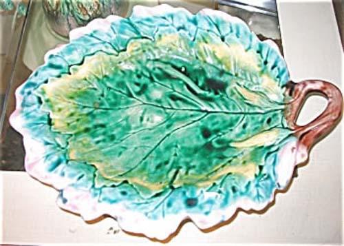 American Majolica: Etruscan Leaf Plate
