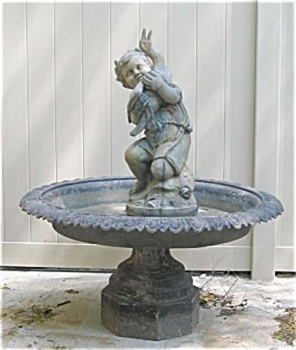 Garden: Victorian Mott Zinc Fountain