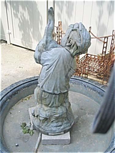 Garden: Victorian Mott Zinc Fountain. SOLD