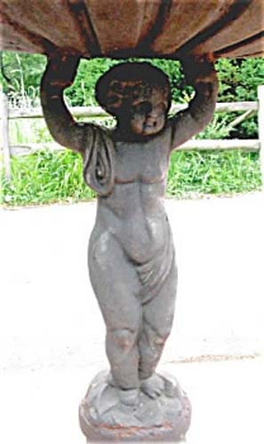 Vict. Cast Iron Cherub Bird Bath SOLD