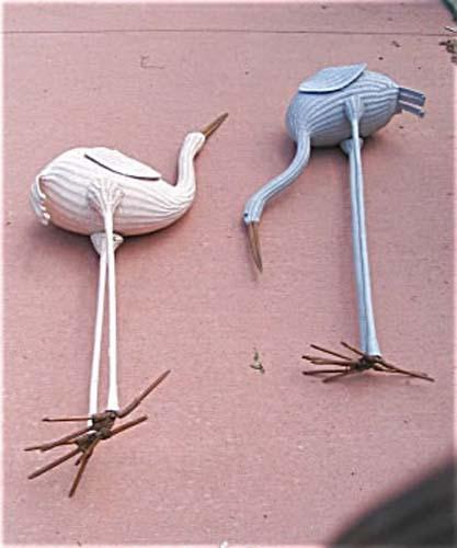 Garden: Pair of Wicker Birds SOLD