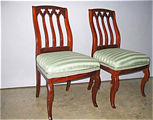 Pair of Gothic Revival Chairs Attrib To Roux Sold