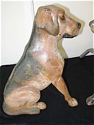 Dog Andirons, Cast Iron   SOLD