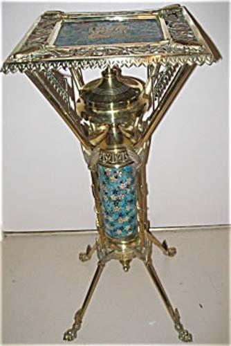 Victorian B&H Brass & Longwy Stand SOLD
