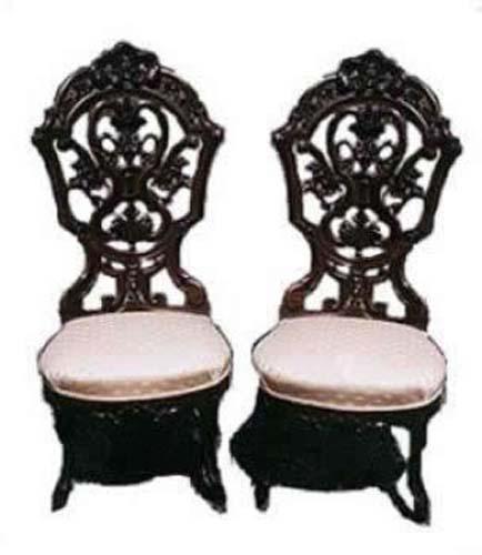 Victorian Laminated Rococo  Slipper Chairs