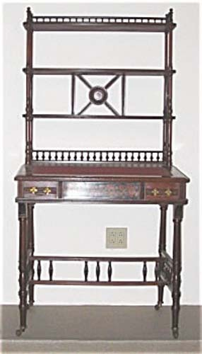 Victorian Desk/Etagare Attrib To Herter Bros