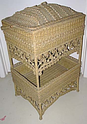 Victorian Wicker Sewing Basket