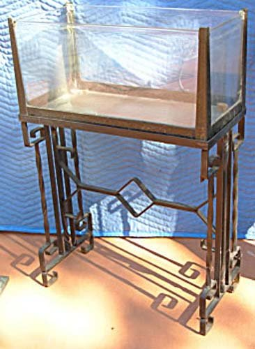 Art Deco Wrought Iron Fish Tank SOLD