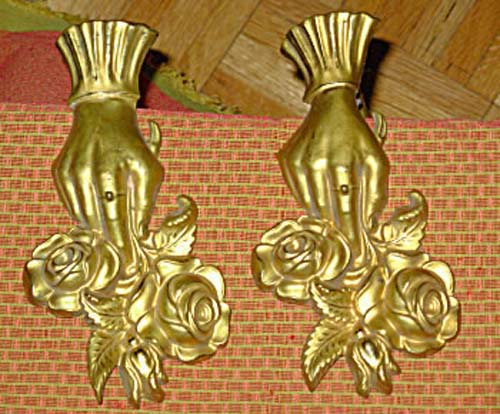 Tie Backs, Pr Victorian Brass