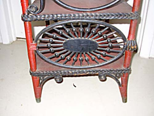 Victorian Wicker Sheet Music Stand
