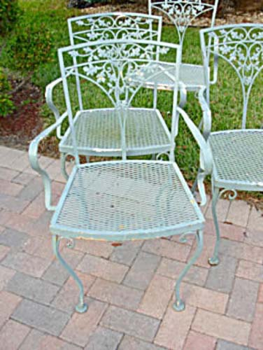 6 Vintage Woodard Armchairs SOLD