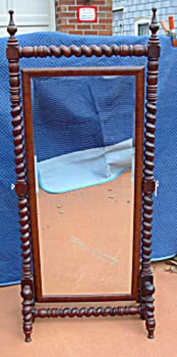 Victorian Hunzinger/Merklen Cheval Mirror SOLD