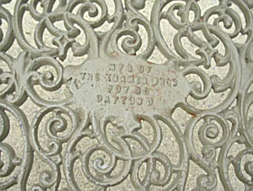 Cast Iron Garden Bench By Kramer Bros SOLD