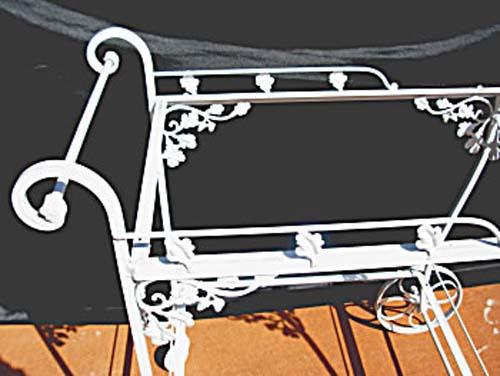 Woodard Orleans Wrought Iron Tea Cart SOLD