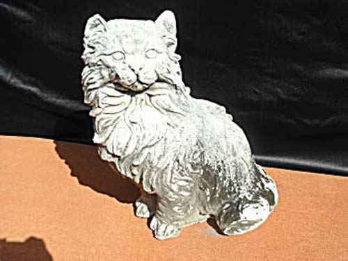 Garden: Antique Stone Cat