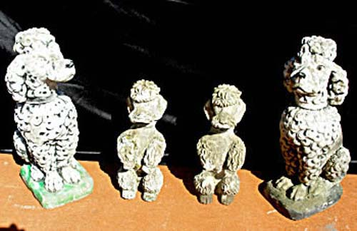 Stone Statues, Dogs. SOLD