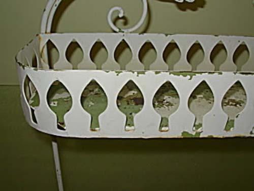 Salterini Wrought Iron Planter-Shabby Chic