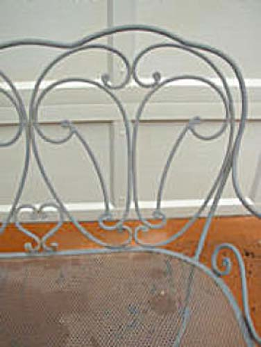 Wrought Iron Garden Bench  SOLD