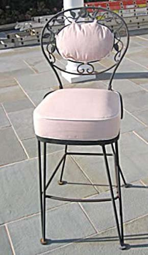 Pr Woodard Chantilly Rose Bar Stools SOLD