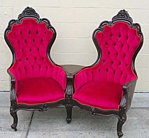 Settee:Belter Laminated Double Chair Loveseat