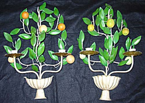Sconces Tole Lemon And  Orange